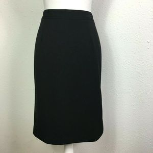 Atelier Luxe 4 Black Lined Stretch Pencil Skirt